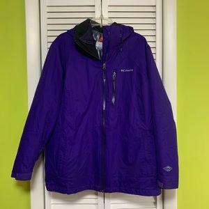 Columbia purple sportswear interchange coat 2X